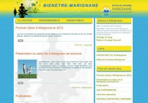 Blog pour un salon bien-être (organisé par l'Office de Tourisme de Marignane)