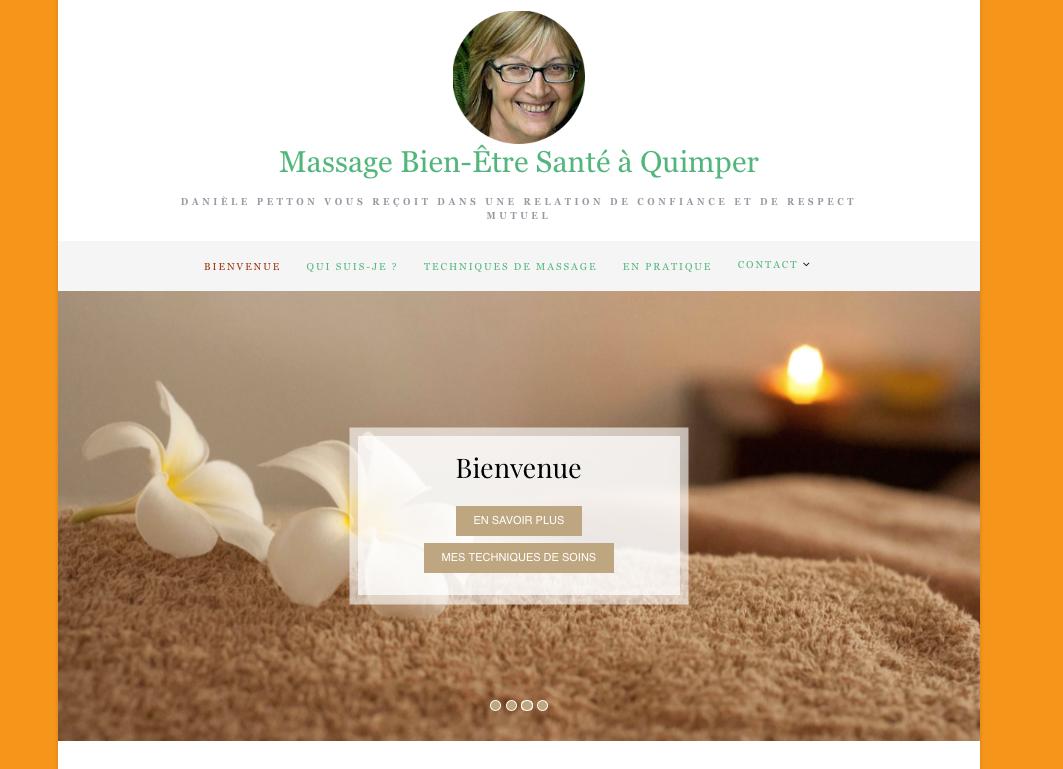 Site de Danièle Petton Thérapeute en massages bien-être