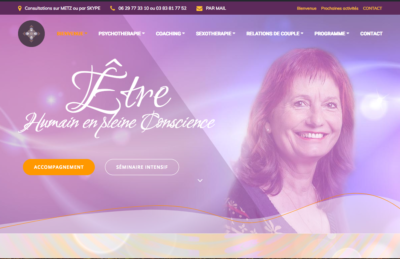 site de Roseline Mourtier thérapeute